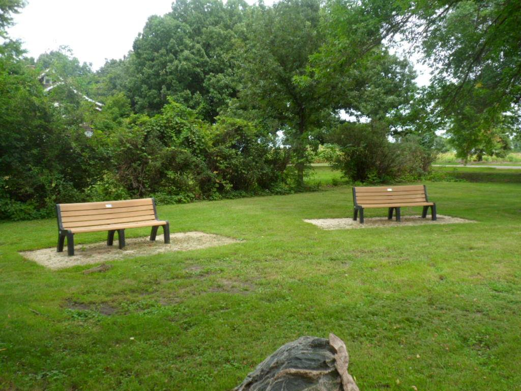 New benches at Plover City Park