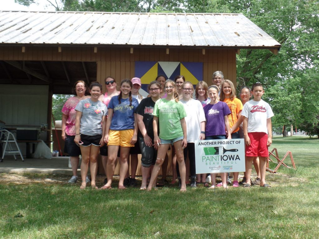 Paint Iowa Beautiful volunteer project at Plover City Park